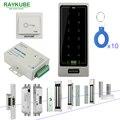RAYKUBE система контроля доступа с сенсорной клавиатурой RFID считыватель электронный дверной замок полный комплект для домашнего офиса