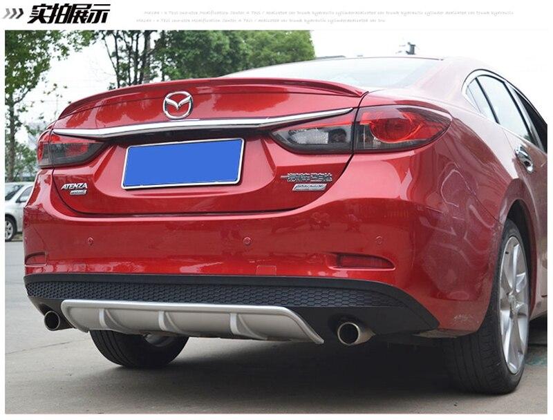 MONTFORD Pour Mazda 6 M6 Atenza 2014 2015 2016 2017 ABS Aileron Arrière En Plastique Diffuseur Garde Bumper Protector Plaque de protection couverture