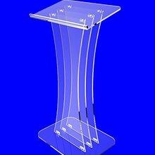 """Приспособление отображает прозрачный акриловый люсит кафедра для выступлений Lectern 4"""" высокий оргстекло"""