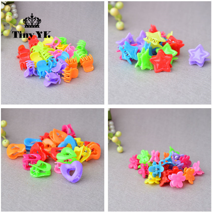 25pcs Todder font b Accessories b font Mini font b Hair b font Claw Clamps Flower