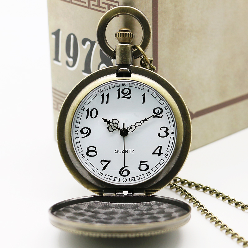 New Arrival Army Pocket Watch Bronze Retro Mænd Watch Women Watches - Lommeur - Foto 4