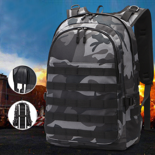 Cosplay Backpack Jedi To Survive To Eating Chicken Three-Level Package PUBG Fashion Trend Waterproof Large-Capacity Package 5