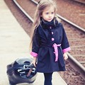 Beauty Kids Baby Girls Toddler Winter Warm Trench Windbreaker Jacket Coat Parka Outwear