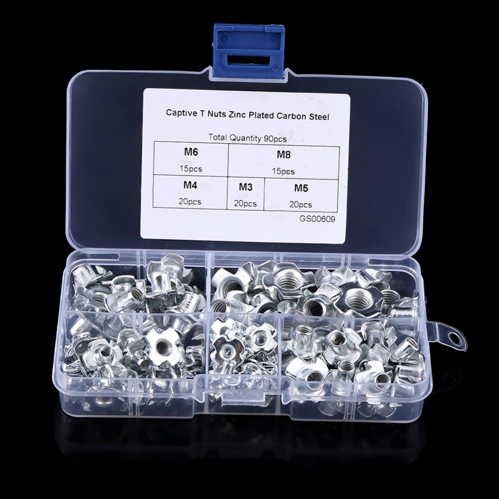 90Pcs M5 Cotter Pins with Storage Box Fastener Installation Accessories Rockyin 90Pcs Flat Head Dowel Pins