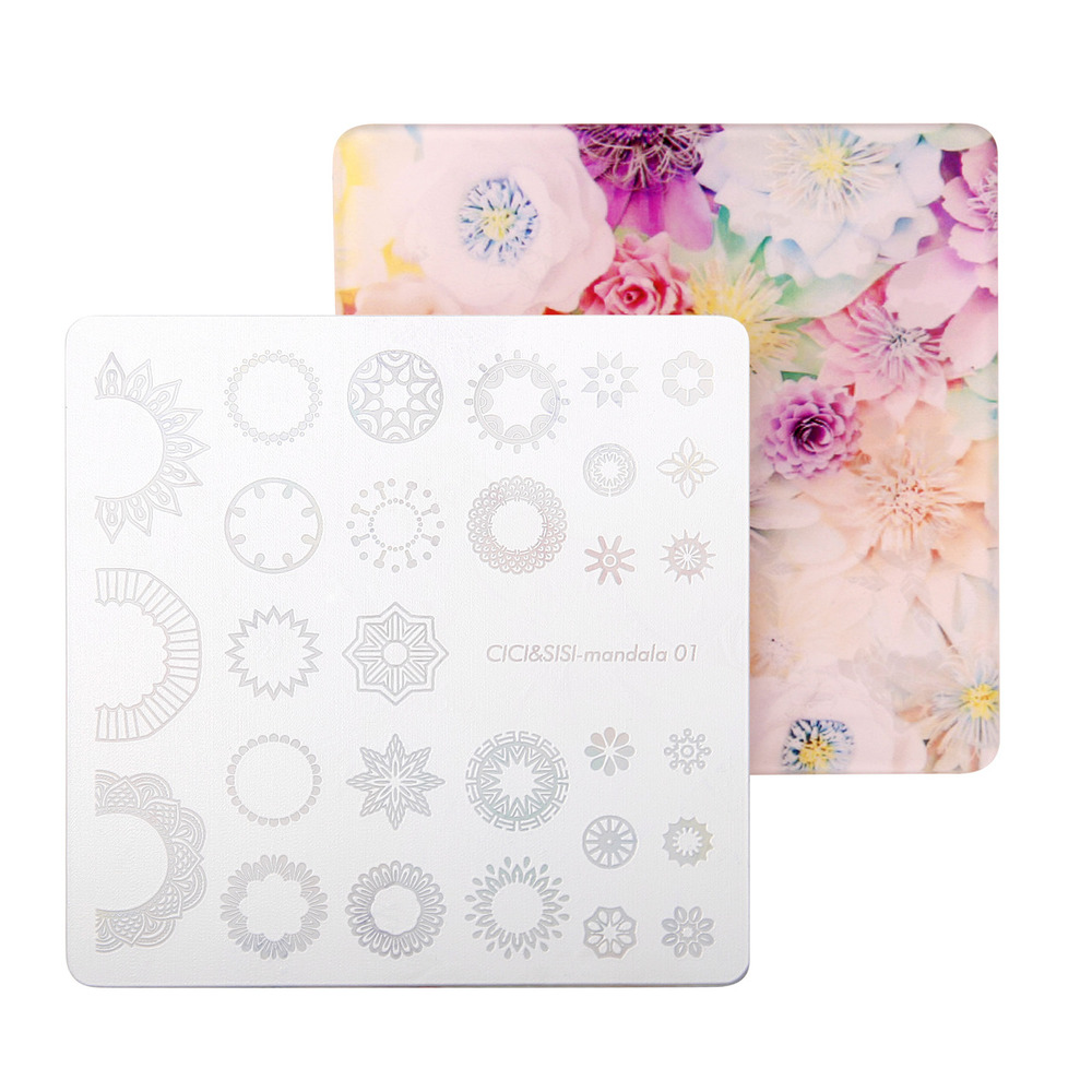 CICI&SISI Nail Art Stamp Plate Mandara Plate Flowers Stamping Image Plate Damask Nail Stamping Mandala Plate eax43177601 lg32f1bz plate ebr50524101