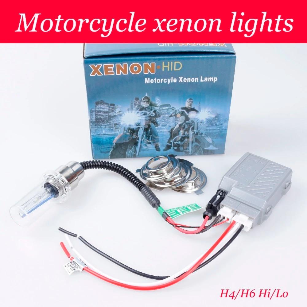Motorcycle High Intensity Discharge Bike Lights Kit H6 Hi Low Hid H4 Bi Xenon Bulbs 2800lm 12v 35w 4300k 6000k8000k10000k12000k Xenon Bulb Led Car12v 35w Aliexpress