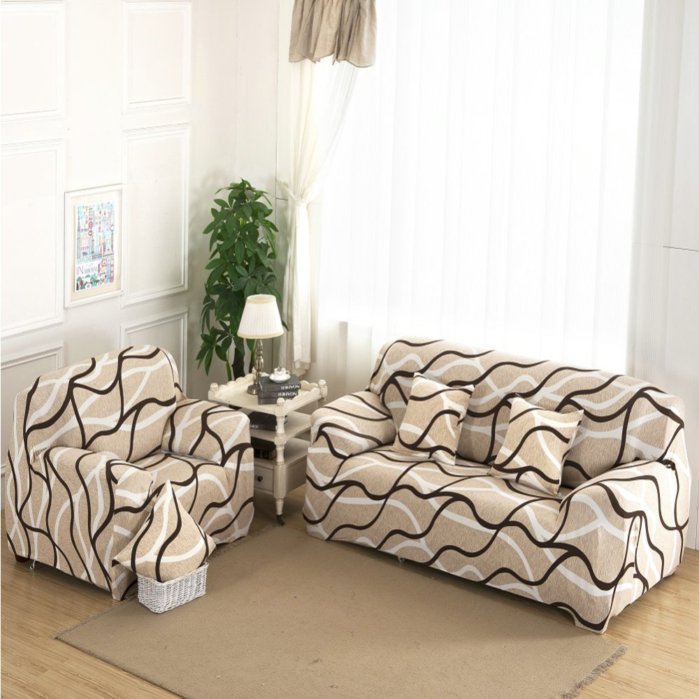 New Slipcover Stretch Sofa Cover Sofa With Loveseat Chair: Aliexpress.com : Buy 1/2/3/ Seat Plush Flexible Stretch