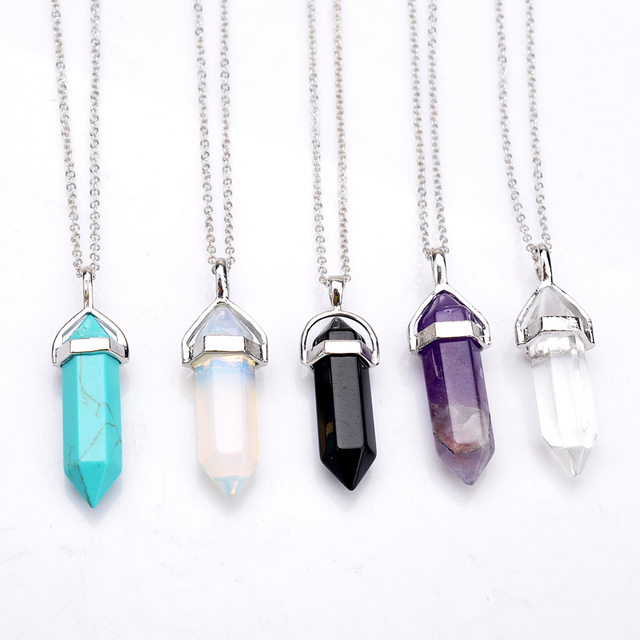 Ywnz2015 55 bullet shape natural stone real amethyst necklaces ywnz2015 55 bullet shape natural stone real amethyst necklaces crystal gem stone quartz pendant necklace mozeypictures Image collections