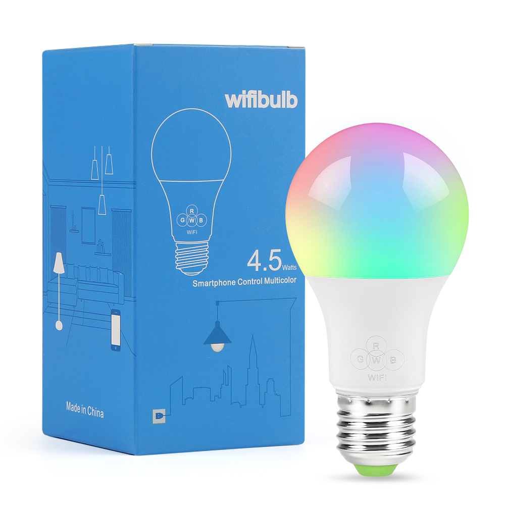 Wifi Smart Light Bulb Compatible With Alexa And Google Assistant Smart Lighting Lamp Color Change For Home Holiday Decoration Led Bulbs & Tubes