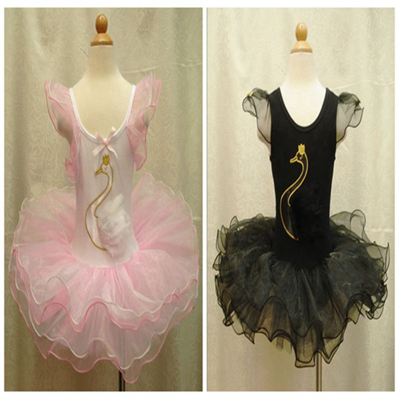 Black and White Swan Girls Dresses For Party And Wedding Kids Clothes Children's Clothing Vestido Infantil Baby Girl Dress summer baby dress voile floral wedding dresses for girls toddler infant girl vestido infantil girls costume cute dress clothes