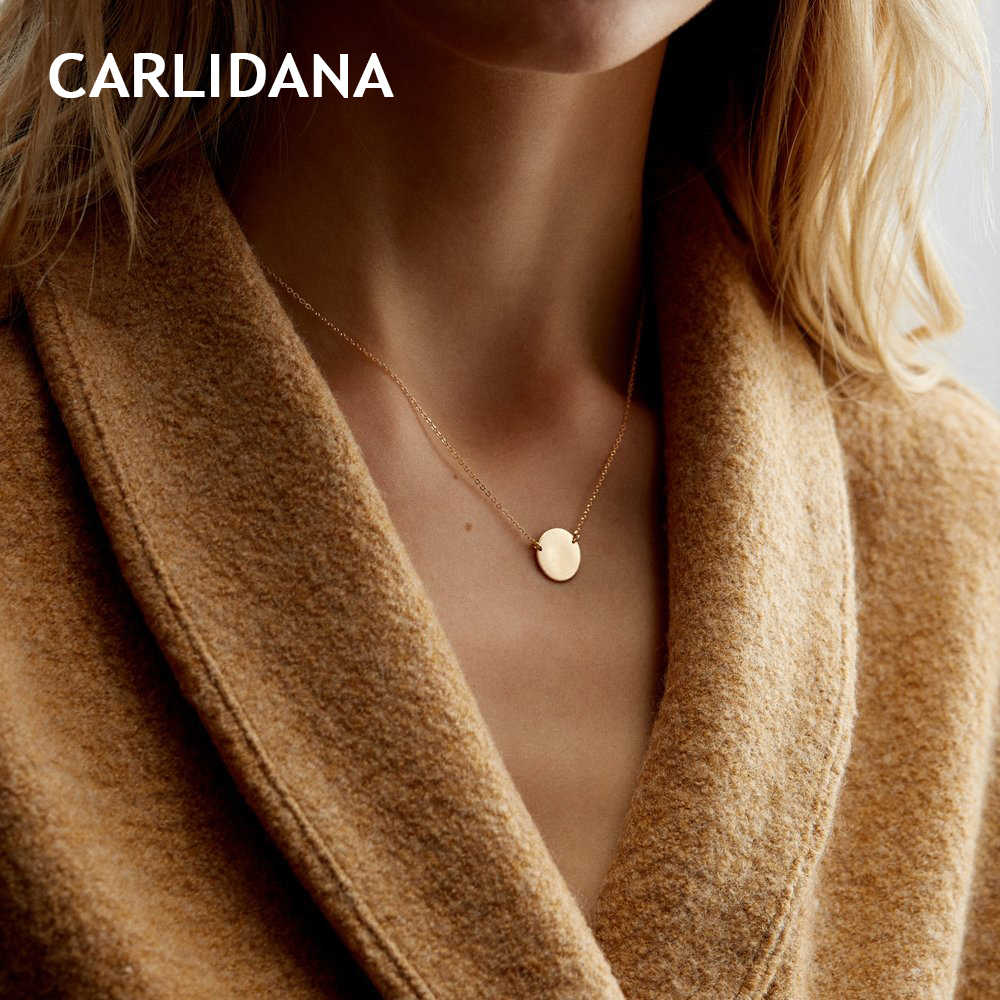 CARLIDANA Korean Style Stainless Steel Necklace women Thin Dainty Gold Color Choker Necklaces for women Necklaces Jewelry