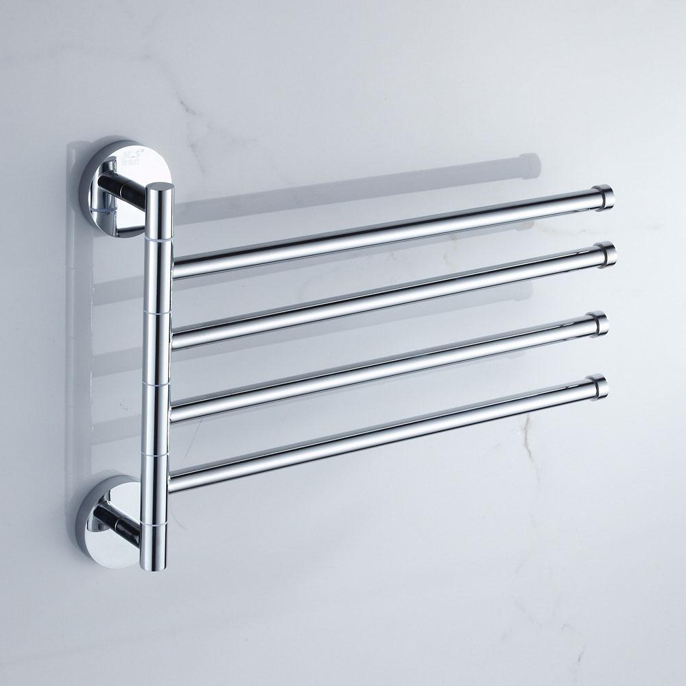 Solid Brass Rotary Towel Rack Toilet Hanging Rack Bathroom Movable ...