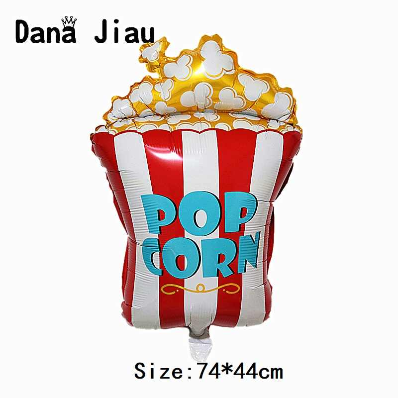 Danajiau New Popcorn foil balloon gold birthday party decoration cake donut Pizza ballon cartoon hamburger kids gift toy inflate