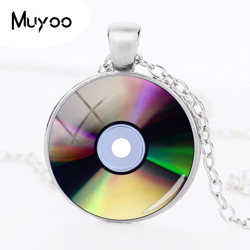 2018 new cd photo necklace light disk pendant silver. Black Bedroom Furniture Sets. Home Design Ideas