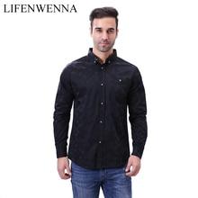 High Quality Men Shirt 2019 Brand Fashion Casual Slim Geomet