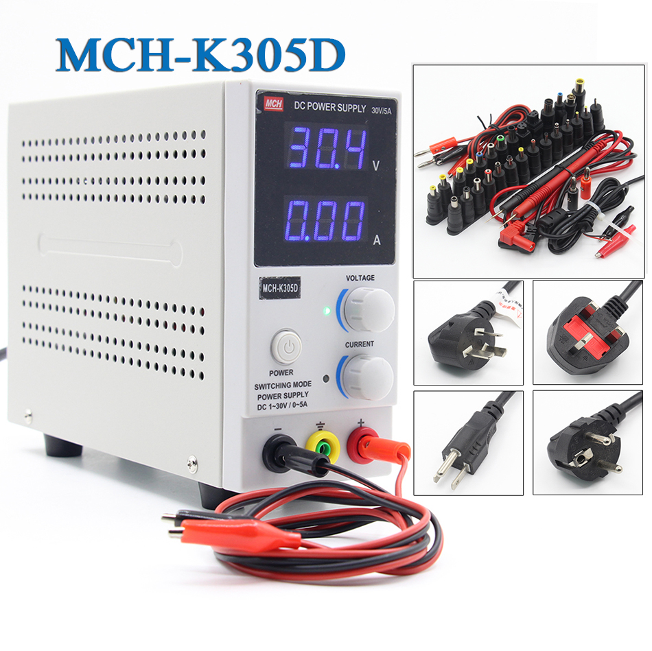 MCH K305D 220V/110v Mini Switching Regulated Adjustable DC Power Supply SMPS Single Channel 30V 5A Variable