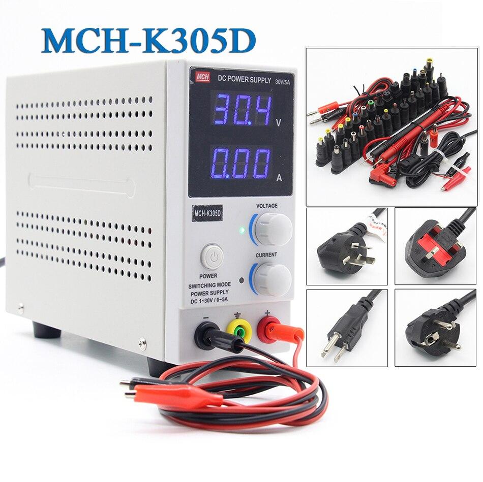 MCH K305D 220V/110v Mini Switching Regulated Adjustable DC Power Supply SMPS Single Channel 30V 5A Variable