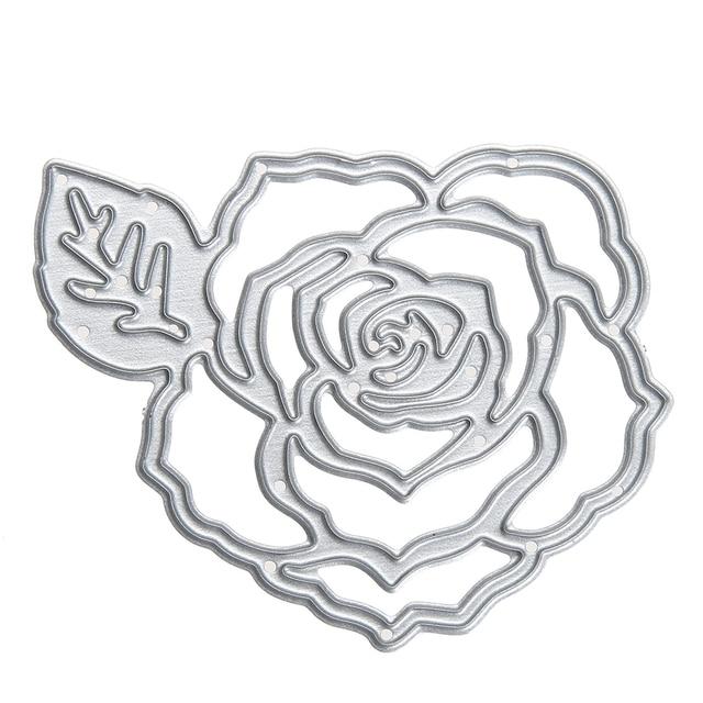 Rose Flower Metal Cutting Dies Template for DIY Scrapbooking Album