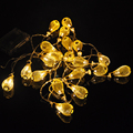 Hot sale 20 led Battery led string LED Metal Drip String Lights Patio Wedding Party Christmas lights Bedroom Holiday Decoration
