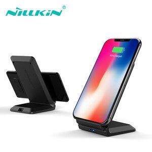 Image 2 - NILLKIN Qi Drahtlose Ladestation für iPhone XS/XR/X/8/8 Plus Schnelle 10W Drahtlose Ladegerät für Samsung Note 8/S8/S10/S10E