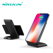 Nillkin 10W Qi Fast Wireless Charger Stand Pad for iPhone Xs Max X Xr for Samsung Note 10 10+ S10 Plus S9 for Huawei for Xiaomi home bluetooth speaker qi wireless charger pad music surround speaker nillkin cozy mc1 for iphone x 8 for samsung s9 for xiaomi