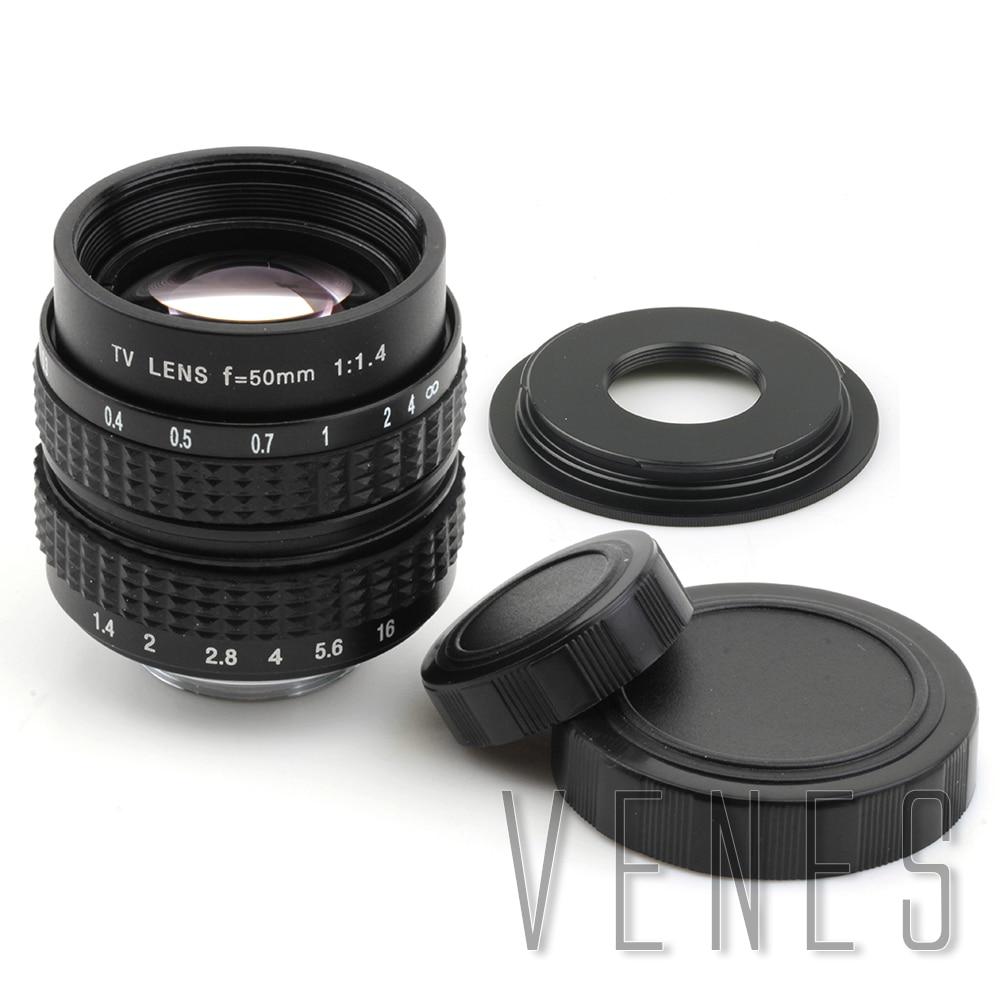 50mm f1.4 CC TV Lens+C mount to Micro M4/3 NEX N1 Suit For P/Q Fuji /M M2 Adapter For Panasonic+Lens Cap