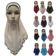 Muslim Women Girl Hijab Cover Amira Shawl Scarf Turban Islamic Headwear Cap Hats Headscarf Arab Neck Cover Prayer Hat Banadanas