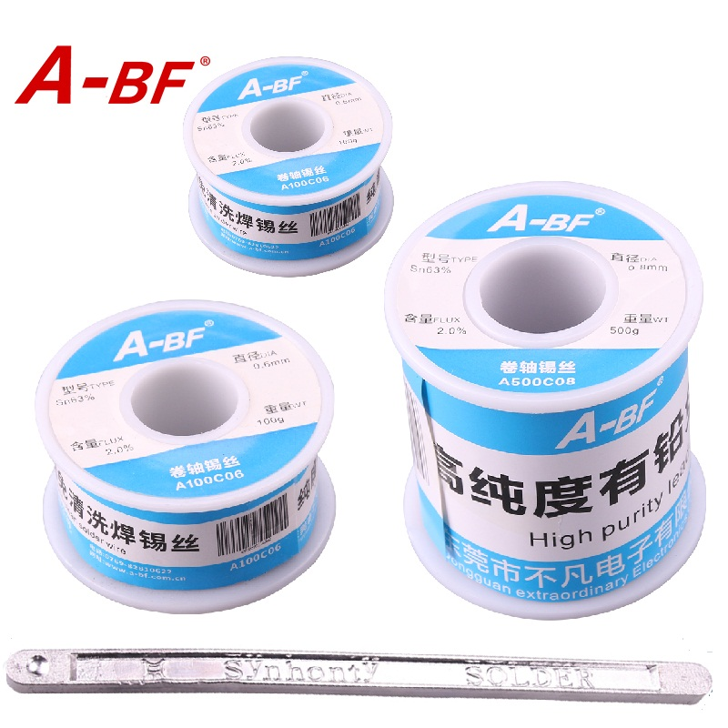 A-BF 63/37 Pb Rosin Core Solder Wire flux Saldatura Elettrica ferro saldatura penna soldring pot solder bar 50g 100g 500g