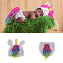 Halloween Christmas 0-3 months coslplay costume newborn baby photography make up dress little pony suits
