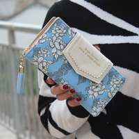 Women S Wallet Lace Colorful Tassel Zipper Purses Pu Leather Long Ladies Wallet With Mobile Phone