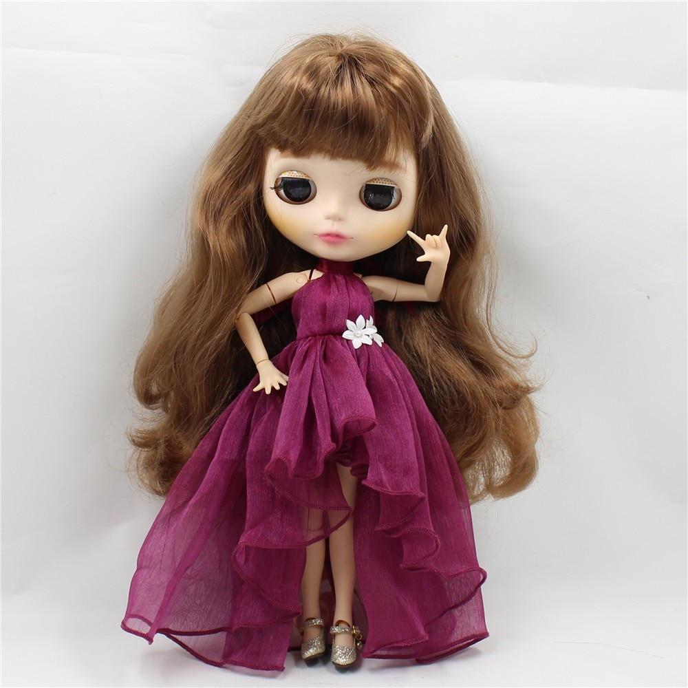 Neo Blythe Doll Chiffon Dress with Flower 4