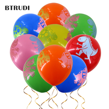 BTRUDI 30pcs/50pcs lot 12inch Dinosaur printing latex balloon theme party for kid baby shower  Birthday Decoration supplie