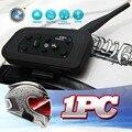 2015 el Más Nuevo wireless Casco de La Motocicleta de Bluetooth Intercom para 6 Riders Interphone 1200 m del casco de Auriculares Mp3 Music GPS