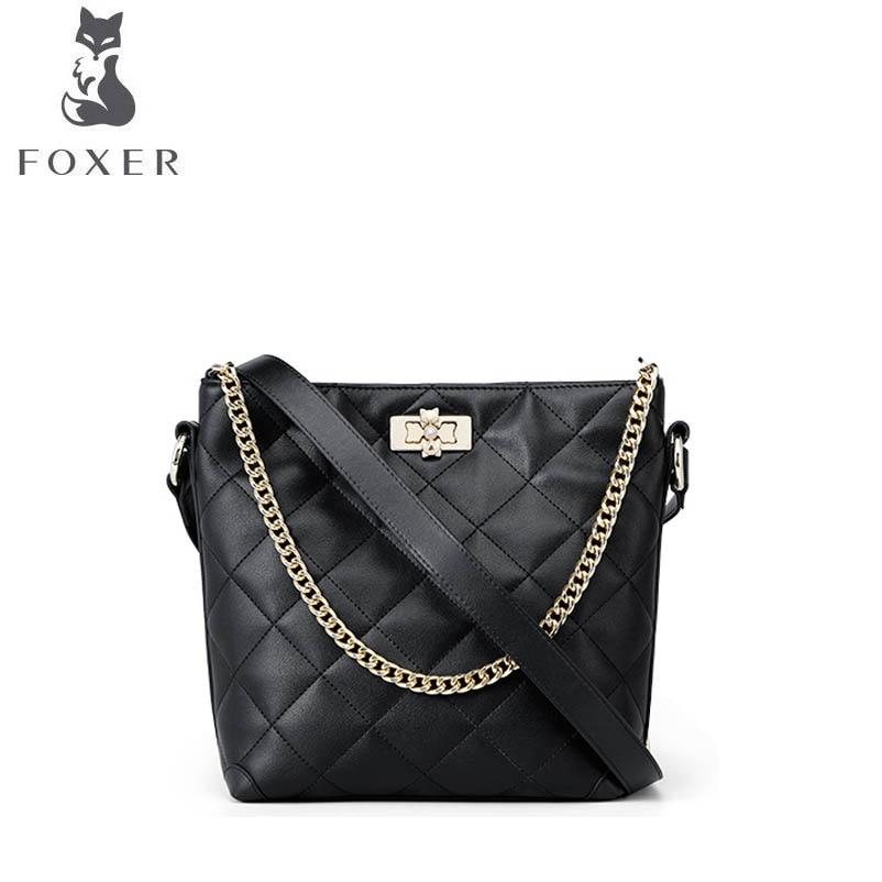 726e6eaf49eb FOXER маленький аромат сумка женская 2019 новая галогенная на замену сумка  блуждающая сумка через плечо сумка