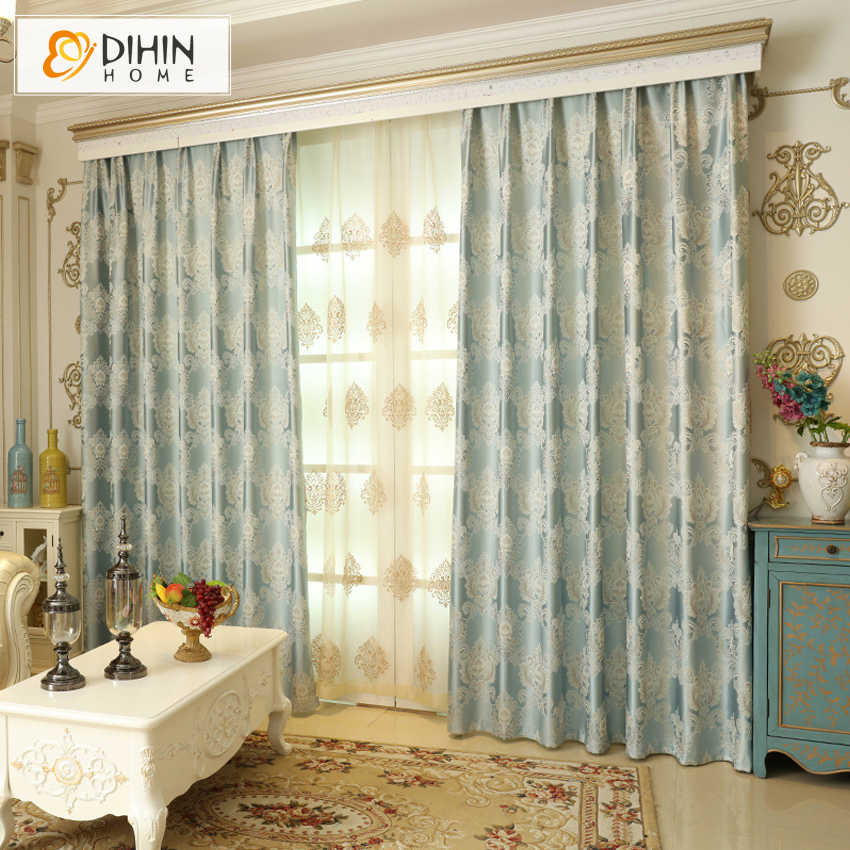 DIHIN 1 PC Luxury Modern Curtains For The Bedroom Elegant Window Living Room Blinds Drapes Ready Made