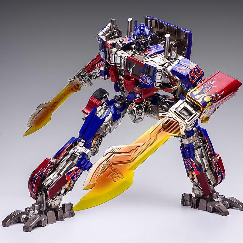 WJ 8093 Transformation jouets déformation Robot SS05 métal partie Robots voiture modèles Collections garçon cadeaux d'anniversaire