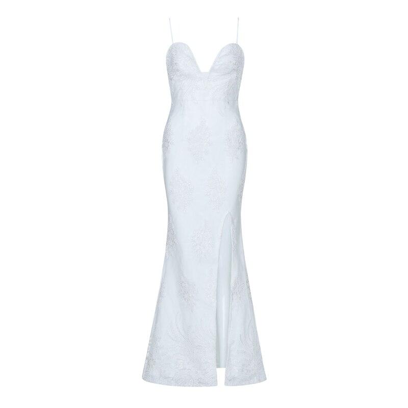 INDRESSME Floor Length Women Bandage Gown Dress Lace Embroidery Spaghetti Strap V Neck Backless Evening Party Dresses Vestidos-에서드레스부터 여성 의류 의  그룹 3