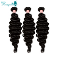 6а класса перуанский девственные волосы глубоко вьющиеся человеческих волос 3 шт./лот необработанные глубокая волна переплетения человеческих волос Aliexpress великобритании