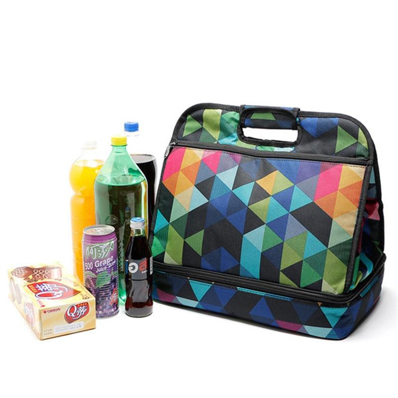 Fashion Eco-friendly Shopping Bags Bucket Type Storage Bag Waterproof Reusable Shopping Travel Shoulder Bags Pouch Tote Handbag gorros de baño con flores