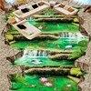 Free Shipping Self Adhesive PVC Floor Wallpaper Waterfalls Outdoor 3D Stereo Flooring Mural