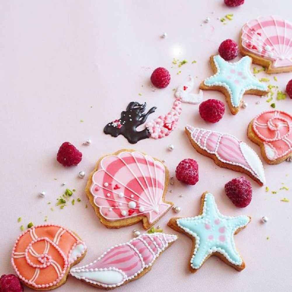 Biscuit Thép không Gỉ Khuôn Ốc Xà Cừ Mèo Con Voi Hình Dạng Cookie Cutter Cấp Thực Phẩm Nướng Công Cụ Nhà bếp Cung Cấp