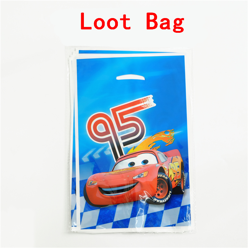 10pcs/lot Gift bag Loot bag Cars Kids Birthday party supply event party supplies party Decoration Set candy bag