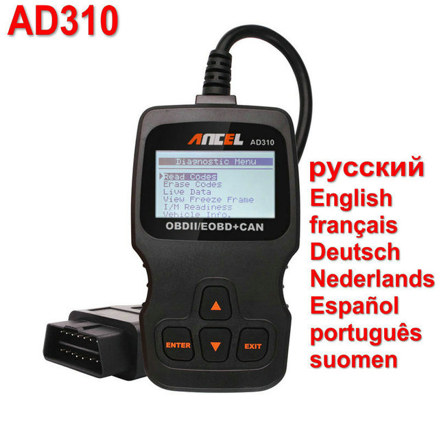 [Newest!!!] ANCEL AD310 OBD OBD2 EOBD CAN Engine Code Reader OBDII Scanner Auto Diagnostic Tool with Live Date