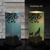 Pet Addiction night Howl wolf design Night Light Beside Table shadow paper LED night light Lamp as personalized pet gifts