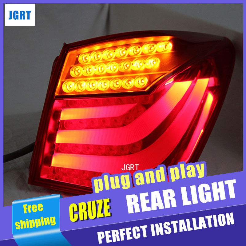 Car Styling for Chevrolet Cruze Taillight assembly Design 2012 Cruze LED Tail Light Rear Lamp DRL+Brake+Park with hid kit 2pcs. car styling tail lamp for chevrolet cruze 2009 2013 tail lights led tail light rear lamp led drl brake park signal stop lamp