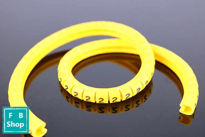 Высокое качество 600 шт (each50 шт) EC-0 1,5 мм-3,2 мм маркеры для кабеля буквы от 0 до 9 +-X для диаметра провода 2.6sq. Мм ~ 4,2 кв. Мм кабель