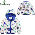 Children's Winter Jacket Dinosaur Jackets for Boys Cartoon Kids Outwear Design Girls Coats Minnie Mouse Rabbit Hiking Jackets