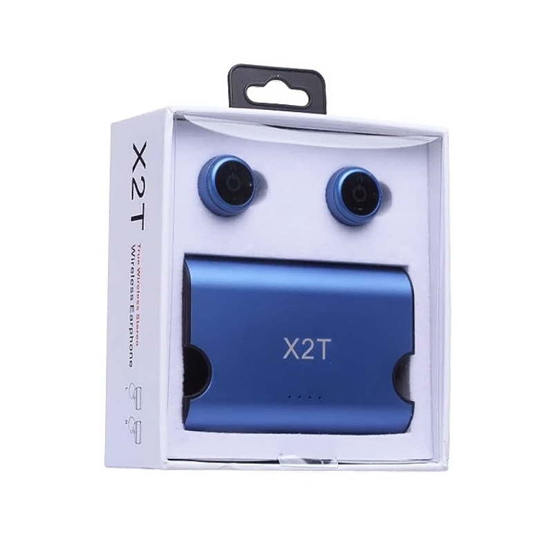 X2T Bluetooth Earphone Anti-Noise In-Ear Wireless Headset with 1500mAh Power Stand Box for IOS/Android ...