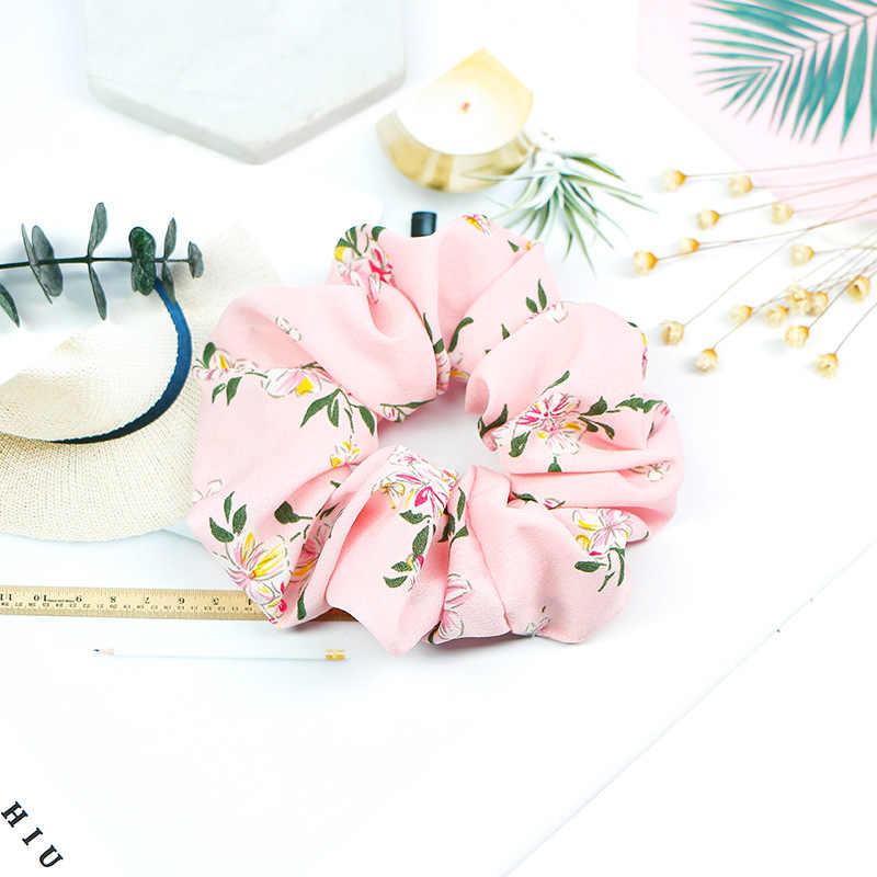 2019 Nuovo Fiore Hairband Turbante Estate Scrunchie per Le Donne di Colore Della Caramella Titolare Coda di Cavallo Legami Dei Capelli Della Ragazza Accessori
