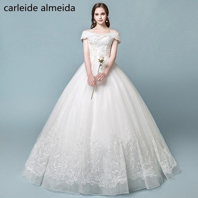 Vestidos de Novia Off the Shoulder Ball Gown Wedding Dress 2018 ...